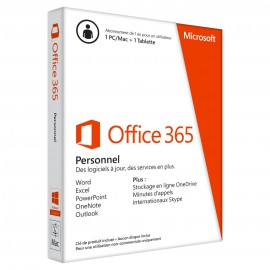 Microsoft Office 365 Personnel - Licence d'abonnement ( 1 an ) - Pour un 1 PC ou Mac + 1 tablette