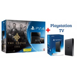 """Sony Playstation PS4 500 GB + Jeu """" The order 1886"""" + Playstation TV"""