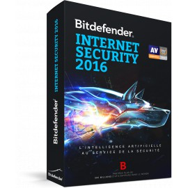 Bitdefender Internet Security 2016 - Version Boîte avec DVD