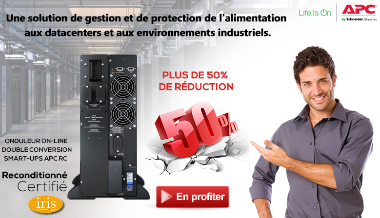 Onduleur On-line Double conversion Smart-UPS APC RC 5000 VA, 230 V - Reconditionné certifié Iris.ma - Maroc