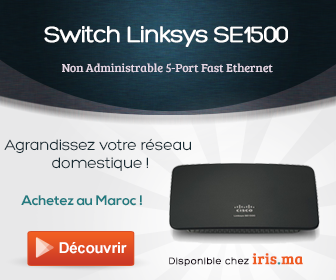 Switch Non Administrable Linksys SE1500 5-Port Fast Ethernet