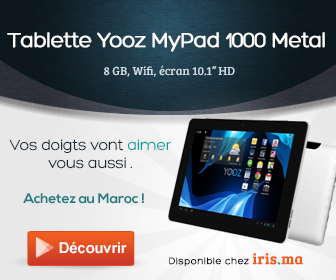 Tablette Yooz MyPad 1000 Metal 8GB, Wifi