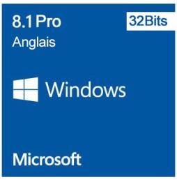 Microsoft Windows 8.1 Pro 32 bits (Anglais) - Licence OEM (DVD)