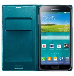 Etui portefeuille Flip Wallet cover pour Galaxy S5