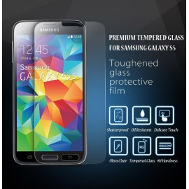 Protection écran Glass-Protector Silicone pour Samsung S5 (0.33 mm)