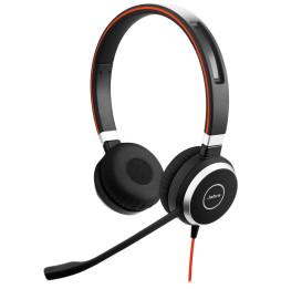 Micro-casque Anti-Bruit professionnel Jabra EVOLVE 40 UC Stéréo - USB et Jack 3.5 mm