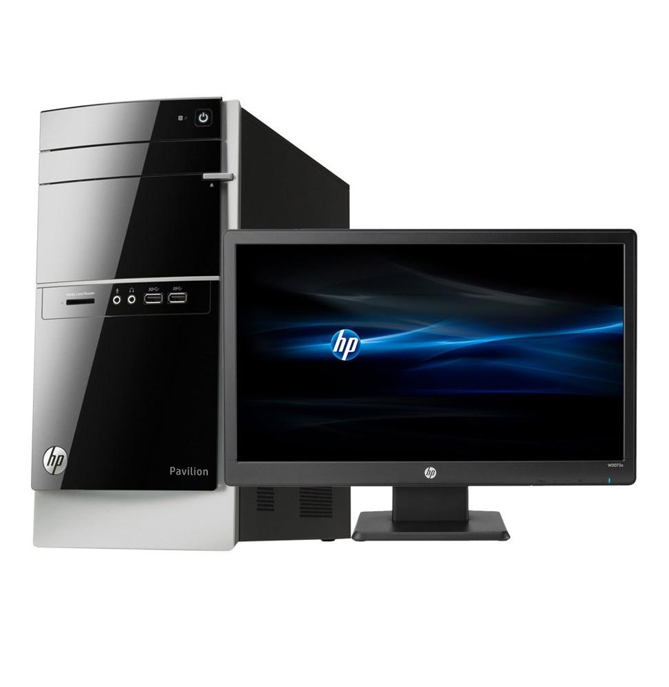 ordinateur de bureau hp pavilion 500 530nkm avec cran hp. Black Bedroom Furniture Sets. Home Design Ideas