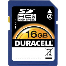 Carte mémoire SD Classe 4 16 GB Duracell DU-SD-16GB-R