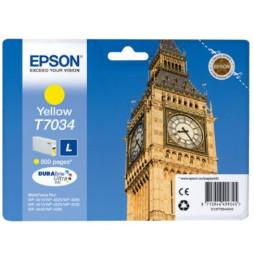 Cartouche Epson Big Ben d'encre jaune (C13T70344010)