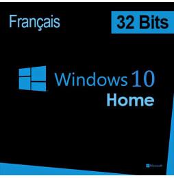 Microsoft Windows 10 Home 32 bits Français (Licence originale + DVD)