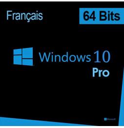 Microsoft Windows 10 Pro 64 bits (français) DSP OEI - Licence OEM (DVD)