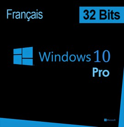 Microsoft Windows 10 Pro 32 bits (français) DSP OEI - Licence OEM (DVD)