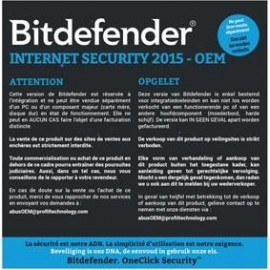Bitdefender internet security 2015 - DVD OEM Licence 1 An 1 Poste