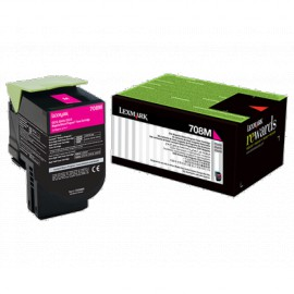 Cartouche de toner Cyan LEXMARK Return Program 1000 pages (70C80C0)