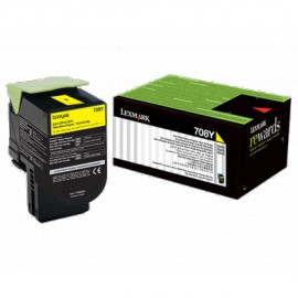 Cartouche de toner Jaune LEXMARK Return Program 1000 pages (70C80Y0)