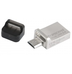 Clé USB et Micro-USB OTG Transcend JetFlash 880 - USB 3.0 Silver