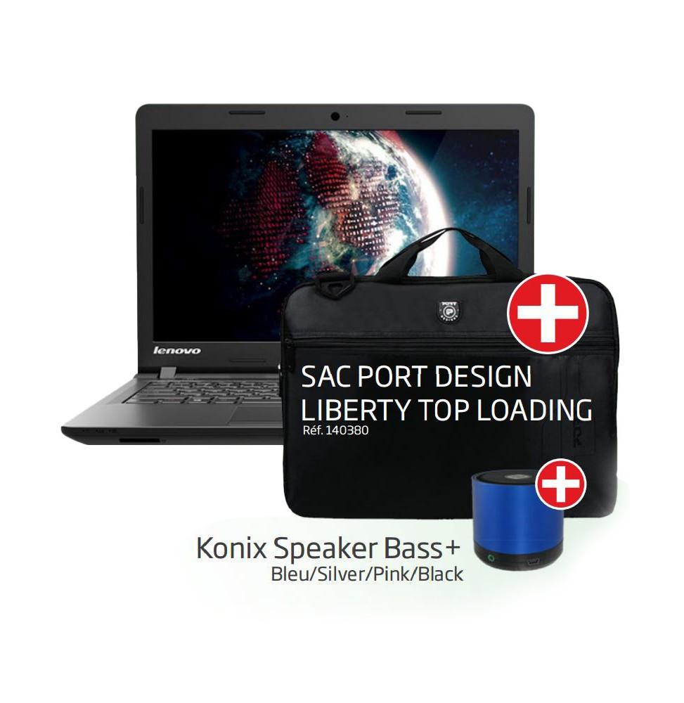 pc portable lenovo ideapad 100 konix speaker bass et sacoche port design liberty top loading. Black Bedroom Furniture Sets. Home Design Ideas