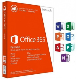 Microsoft Office 365 Famille 32/64 Bits - Licence d'abonnement ( 1 an ) - jusquà 5 PC ou Mac + 5 tablettes