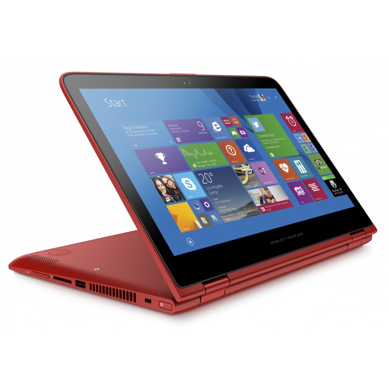 ordinateur portable hp pavilion x360 13 s100nk rouge. Black Bedroom Furniture Sets. Home Design Ideas