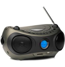 Lecteur CD MP3 Energy Sistem Music Box Z400 Noir (Radio FM et écran LCD rétro éclairé avec USB, Carte SD)