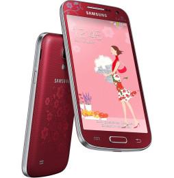 Smartphone SAMSUNG Galaxy S4 Mini - Fleur edition + Pack de 2 étuis orange & vert Offerts
