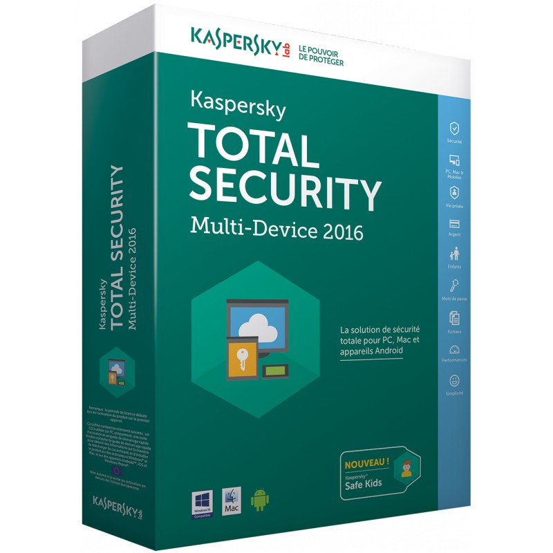 kaspersky total security multi device 2016 5 postes. Black Bedroom Furniture Sets. Home Design Ideas