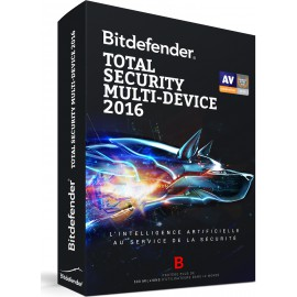 Bitdefender Total Security Multi-Device 2016 (Windows, Mac OS et Android) - 3 postes / 1 an
