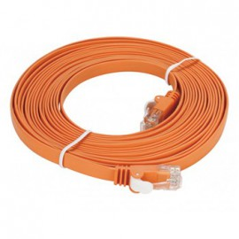 Cat6 UTP 32 AWG PVC Flat Patch Cord - 5 mètre Orange (NCB-C6UORGF1-5)