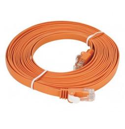Cat6 UTP 32 AWG PVC Flat Patch Cord - 5 mètre Orange (NCB-C6UORGF1-5)