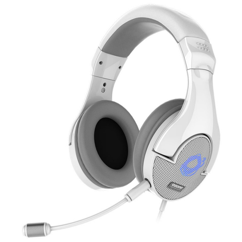 casque micro ozone onda pro pour gamer usb blanc. Black Bedroom Furniture Sets. Home Design Ideas