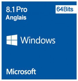 Microsoft Windows 8.1 Pro 64 bits (Anglais) - Licence OEM (DVD)