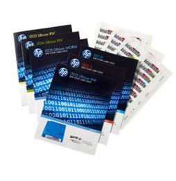 Lot d'étiquettes à code-barres réinscriptibles pour HP Ultrium 4 (Q2009A)