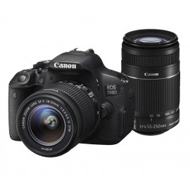 Reflex Canon EOS 700D + Objectif Canon EF-S 18-55mm f/3.5-5.6 IS STM + Objectif 55-250 IS STM