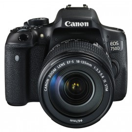 Reflex Canon EOS 750D + Objectif Canon EF-S 18-135mm f/3.5-5.6 IS STM