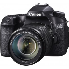 Reflex Canon EOS 70D + Objectif Canon EF-S 18-135mm f/3.5-5.6 IS STM