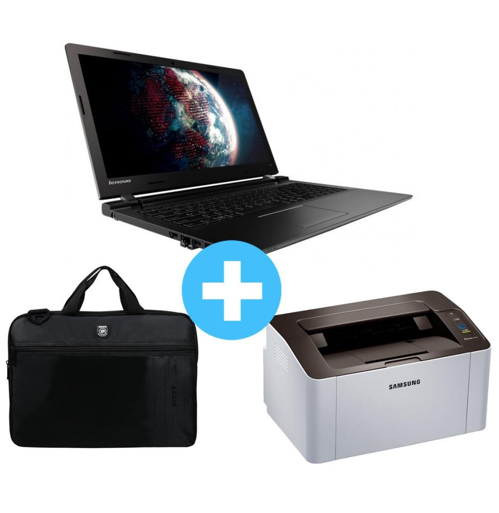 pc portable lenovo ideapad 100 15 sacoche ordinateur liberty 15 6 imprimante laser. Black Bedroom Furniture Sets. Home Design Ideas