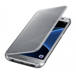 Clear View Cover Samsung S7 - Silver