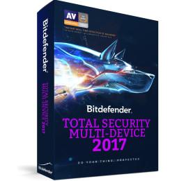 Bitdefender Total Security Multi-Device 2017 - 3 utilisateurs / appareils illimités