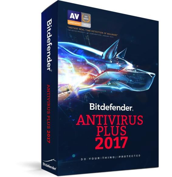Bitdefender Antivirus Plus 2017 - 1an / 3 postes (Version Boîte avec DVD)