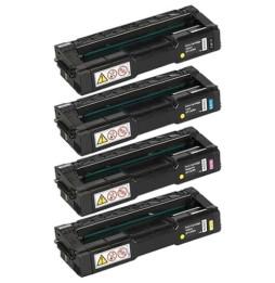 Pack de 4 cartouches RICOH SP C240SF (Noir/Cyan/Jaune/Magenta)