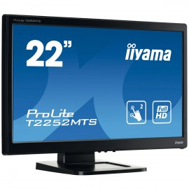 Moniteur IIYAMA Tactile 21.5 pouces Multi points (dual) Full HD ProLite T2252MTS-B3