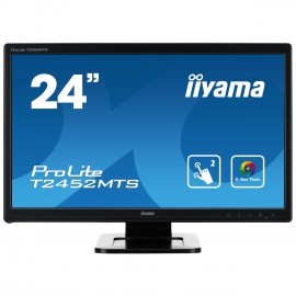 Moniteur IIYAMA Tactile 23.6 pouces Multi points (dual) Full HD ProLite T2452MTS-3