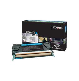 Cartouche de toner cyan Lexmark X746, X748 (X746A1CG)
