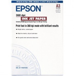 Papier Epson Couché 360 DPI A3 (200f)