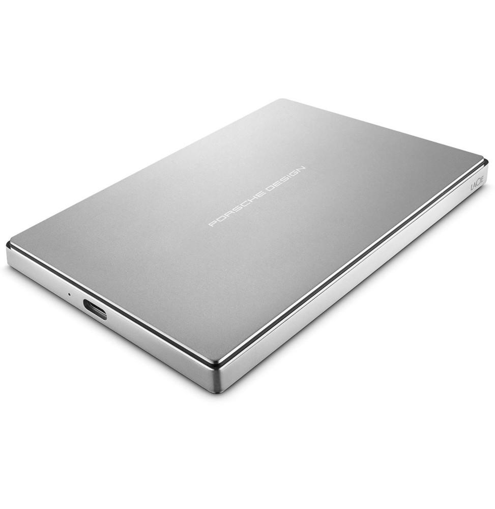 disque dur externe 2 5 en aluminium lacie porsche design mobile drive silver usb 3 1 type c. Black Bedroom Furniture Sets. Home Design Ideas