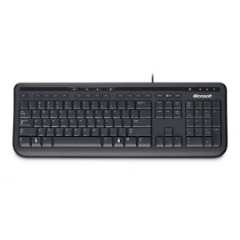 Clavier Microsoft Wired Keyboard 600 - Noir (AZERTY, Français)