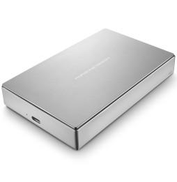 """Disque dur externe 4 TB LaCie Porsche Design Mobile Drive Silver - 2.5"""" en aluminium USB 3.1 Type-C"""