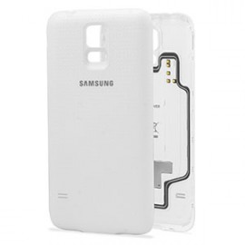Coque pour chargement sans fil Samsung Galaxy S5 Blanc (EP-CG900IWEGWW)