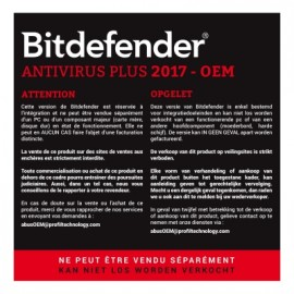 Bitdefender Antivirus Plus 2017 - Version OEM (O-FBDAVP7X1P001)