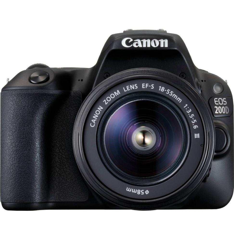 Appareil photo Compact Canon EOS 200D + EF-S 18-55mm (2250C011AA)